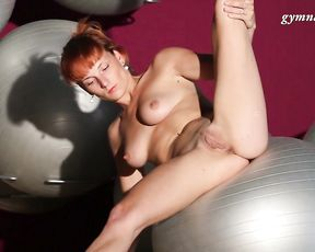 Hot mature woman Ala does nude acrobatics