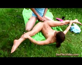 Outdoor yoga porn video