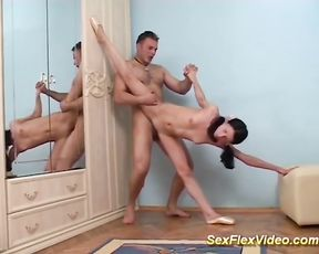 Flexible naked gymnast fucked hard