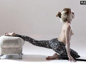 Topless gymnast Rita