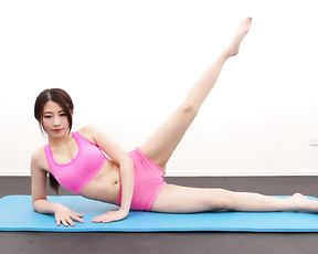 Cute asian yoga girl