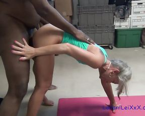 The hottest BBC yoga sex with naked MILF