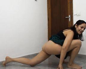 Webcam yoga porn stretching