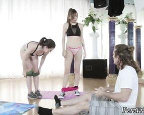 Yoga blowjob sex