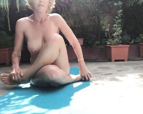 Outdoor yoga webcam sex video