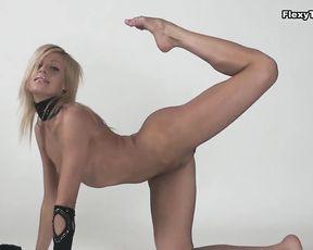 Yoga porn fantasies with a beautiful nude gymnast
