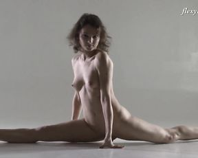 Naked gymnast in hot yoga sex poses