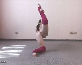 Naked yoga gymnastics video