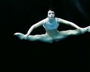 Underwater naked yoga video