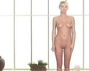 Sara Jean Underwood in instructional naked yoga video