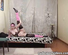 Homemade nude yoga video