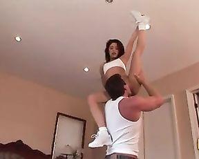 Flexible cheerleader's porn video