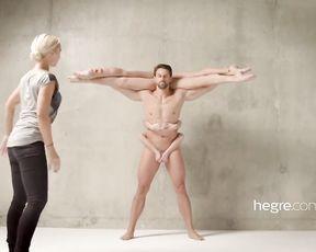 Fabulous Petter Hegre films naked yoga session - behind the scene
