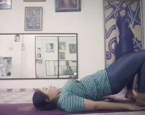 Hot Asian MILF sexy yoga