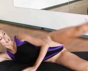 Super attractive bikini yoga with very hot sexy MILF