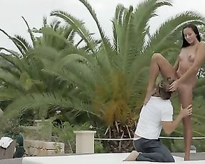 Outdoor yoga fuck
