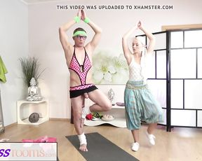 Fitness Rooms funny yoga porn session
