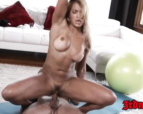 Mercedes Carrera yoga porn video