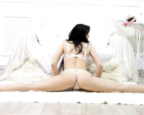 Hot yoga exercises in sexy lingerie