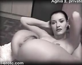 Black and white porn yoga show