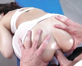 Naked MILF gets fucked in the butt in anal yoga porn video
