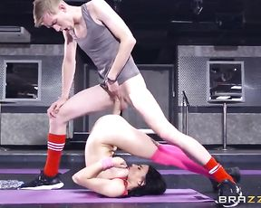 Nude flexible girl in yoga anal porn video