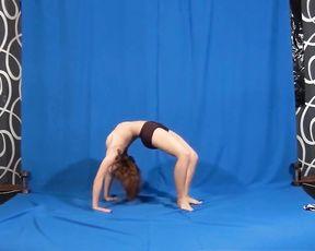 Erotic nude yoga workout
