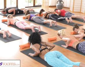 Group yoga session ends with sex exercises