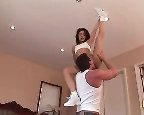 Flexible cheerleader's porn video