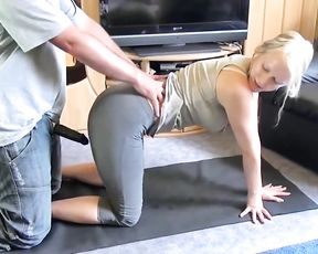 German amateur porn yoga video