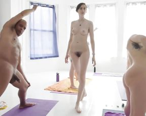 Group naked yoga class philosophy